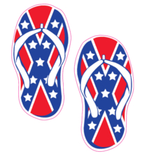 141 Red Confederate Flip Flops