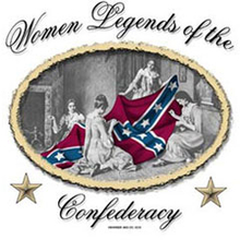 3563L WOMEN SEWIN CONFEDERATE FLAG