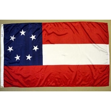 Polyester 3X5 - 1st National Confederate Flag