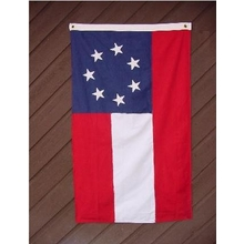 Embroidered Nylon 3X5 1st National Confederate Flag