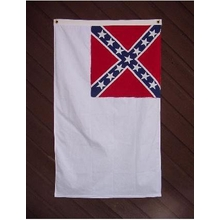 Embroidered Nylon 3X5 2nd National Confederate Flag