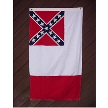 Embroidered Nylon 3X5 3rd National Confederate Flag