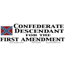 Confederate Descendent for the First Amendment