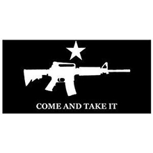 Come and Take It Rifle - White on Black