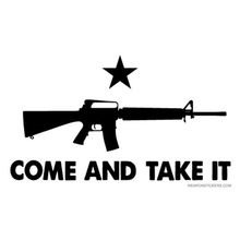 Come and Take It - Black on White